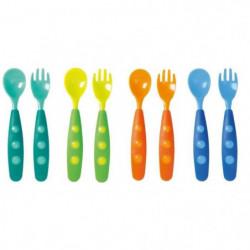 TIGEX Lot de 8 Couverts Colors