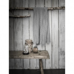 TODAY Plaid tricot Chalet - 125 x 150 cm - Gris clair