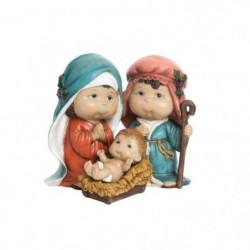 Naissance de Noël en résine - 18 x 14 x 16 cm - Multicolore