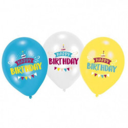 AMSCAN Lot de 6 Ballons imprimés My Birthday Party - 27,5 cm
