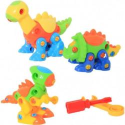 MGM Lot de 3 Dinosaures Articulés Roulant - A construire - M