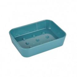 Porte-savon Vitamine effet Soft Touch - Plastique - Vert éme