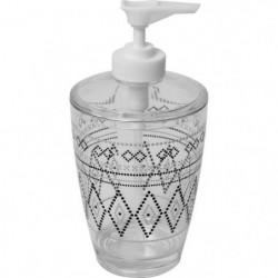 Distributeur a savon imprimé - Plastique - H16,5 x Ø7,5 cm