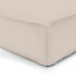 VISION Drap housse 100% coton - 200x200 cm - Mastic