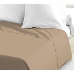LOVELY HOME Drap Plat 100% coton 240x300 cm beige