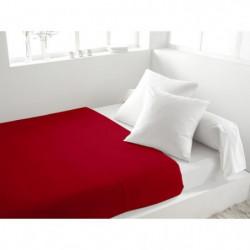 SOLEIL d'OCRE Drap plat 100% Coton 240x290cm Rouge