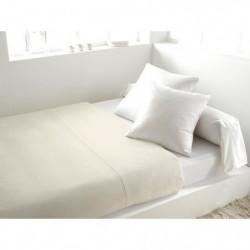 SOLEIL d'OCRE Drap plat 100% Coton 240x290cm Ecru