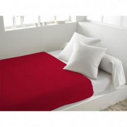 SOLEIL d'OCRE Drap plat 100% Coton 260x300cm Rouge