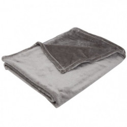 BABYCALIN Couverture flanelle 100% polyester - Taupe - 100 x