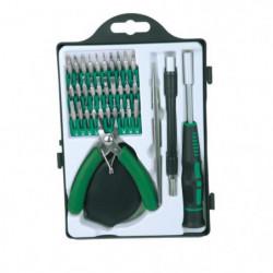 MANNESMANN Jeu de 36 outils de précision et embouts - Vert