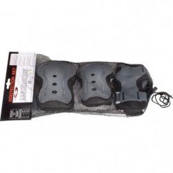 NIJDAM Lot de 3 paires de protections de rollers - Mixte - T
