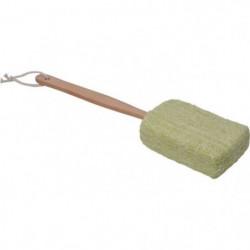 Eponge de bain Ramie avec manche en bois - H41 x l10 x P4 cm