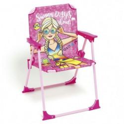 MATTEL Chaise Pliable Barbie Pour Enfant - Montée38x32x53 c