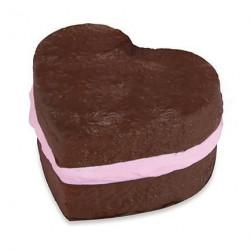 Squishy Soft'N Slo Squishies Original Gateau coeur marron