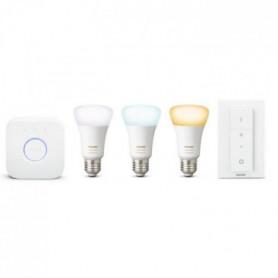 PHILIPS HUE Kit de démarrage 3 ampoules White Ambiance