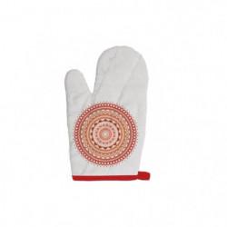 SOLEIL D'OCRE Gant de cuisine Mandala - 100% coton - 16 x 32