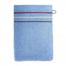 SANTENS Lot de 2 gants de toilette Teline Bleu 2 x 16x22 cm