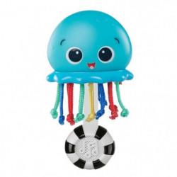 BABY EINSTEIN Hochet méduse Ocean Glow Sensory Shaker - Bleu