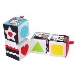 FISHER-PRICE - Mes Cubes d'Eveil  - Jouet d'éveil - 4 cubes