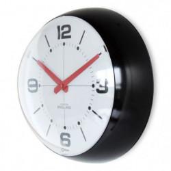 MUNDUS Horloge Bulle avec verre bombée - Ø 25 cm - Noir et r
