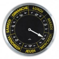 Horloge ORIUM Contraste Hebdo - Ø30 cm - Repere temporelle d