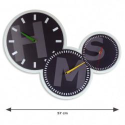 AUSTIN Horloge - Affichage déporté - 3 cadrans et 3 mouvemen