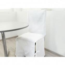 SOLEIL D'OCRE Housse de chaise en coton Panama - Blanc