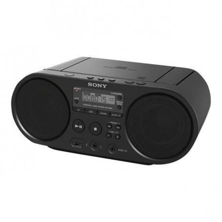 SONY - Boombox  ZSPS50B.CED CD USB - AM-FM - Noir