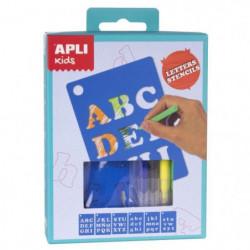 APLI Mini kit pochoirs lettres