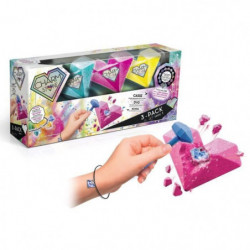 CANAL TOYS - CHARM STONE - 3 Charm Stones - Taille les pierr