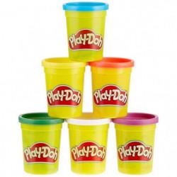 PLAY-DOH - Pack de 6 Pots de Pâte a Modeler - Couleurs Prima