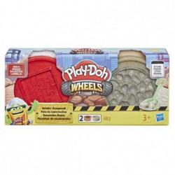 PLAY-DOH Wheels - Pâte de Construction - Brique et Pierre