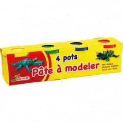 KIM'PLAY 4 Pots de pâte a modeler - 560 g
