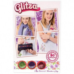 GLITZA ART Tatouage Papillon Doux - 80 Designs