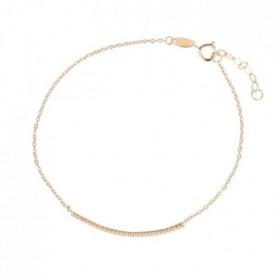 "OR ECLAT - Bracelet ""Barette"" Or Jaune 375/1000"