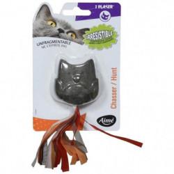 AIME Hibou avec herbe a chat compressé - Pour chat