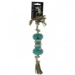 VITAKRAFT Jouet os en corde et caoutchouc - Pour chien