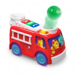 BRIGHT STARTS Camion pompiers et bus école Roll & Pop