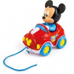 CLEMENTONI Disney Baby - Ma voiture a tirer Mickey - Jeu d'é