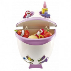 THERMOBABY Range-Jouets Bubble Fish - Rose Orchidée - Blanc