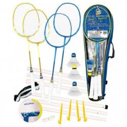 CDTS Ensemble Badminton 4 Raquettes + Ballon Multi-Jeux Tail