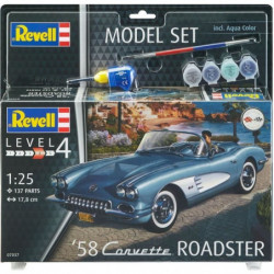 REVELL Maquette Model set Voitures 58 Corvette Roadster 6703