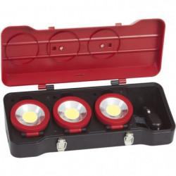 KS TOOLS Coffret de 3 projecteurs LEDs 3W