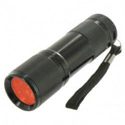 HIGHLANDER Lampe de poche Led Red Cobra Noir