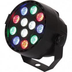 IBIZA LIGHT 15-1460 Projecteur PAR a LED - 12 x 1W RVBB