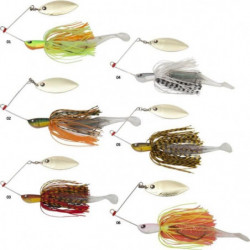VOLKIEN Spinnerbait Hurricane Soft - 14 g - Noir, doré et or