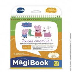 VTECH - Livre Interactif Magibook - Peppa Pig, Jouons Ensemb