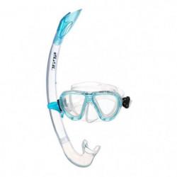 SEAC Masque et Tuba de plongée Bella - Enfant - Bleu turquoi