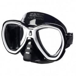 SEAC Masque de Plongée Elba - Adulte - Noir et blanc