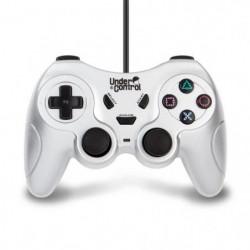 Manette Under Control filaire Argent 1,8m pour PS2